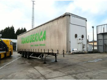 FRUEHAUF full steel frame tri axle 34 ton with lifting roof - ημιρυμουλκούμενος μουσαμάς