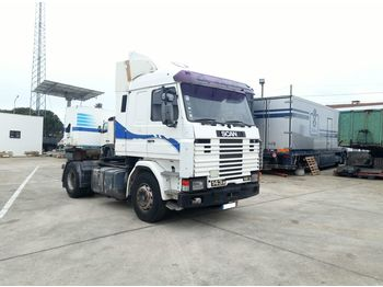SCANIA R143M 420 left hand drive 3+3 manual - τράκτορας