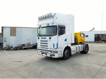 SCANIA R 124 L 420 left hand drive manual retarder air con - τράκτορας
