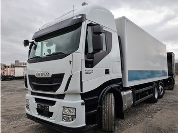 Iveco Stralis 460E6 6x2 Lenkachse Durchlader Stahlboden (43) - φορτηγό κόφα