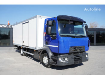 Φορτηγό κόφα RENAULT D 12-210 , E6 , 4X2 , 60.000km , 14 EPAL , side door , tail lif
